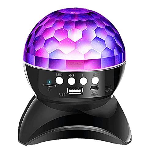 RTOFO Altavoz Bluetooth Negro, Efecto De Atmósfera Ajustable, Bajo Consumo De Energía,...