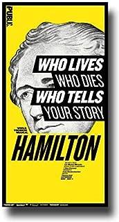 Concert Promoter Hamilton Poster - Broadway Musical Play 16 x 25 Alexander Lin Manuel-Miranda Public Print Sticker Retro Unframed Wall Art Gifts 40x63cm