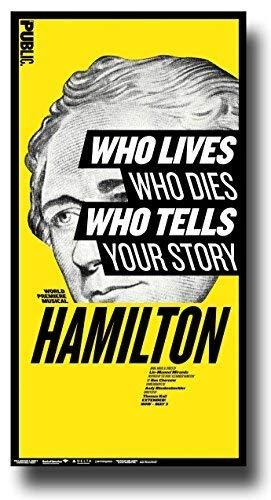 Concert Promoter Hamilton Poster - Broadway Musical Play 16 x 25 inch Alexander Lin Manuel-Miranda Public Poster Print frameless art gift 40 x 63 cm