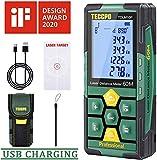Telémetro láser 50m, USB 30mins Carga rápida, TECCPO Medidor Láser Decoracion interior,...