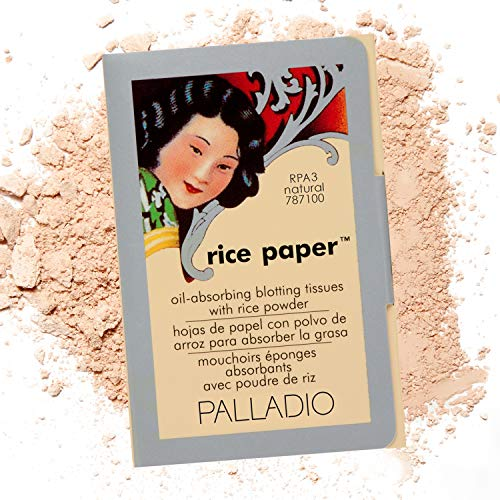 Palladio Rice Paper Facial Tissues for Oily Skin, Face Blotting Sheets Made from Natural Rice, Oil...