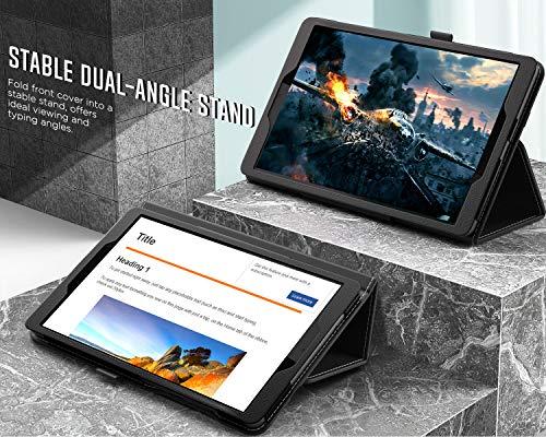 MoKo Hülle Kompatibel mit Lenovo Tab M8 HD (TB-8505F / TB-8505X) / Smart Tab M8 TB-8505FS / Tab M8 FHD TB-8705F, Schlanke Leichte TPU Schutzhülle Tablet Cover Ständer Case, Schwarz