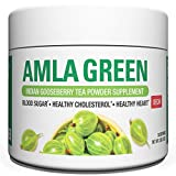 Organic AMLA GREEN Tea Powder – Great Tasting, 20x Concentrated Amla + Oolong Tea Antioxidant Blend – Raw, Vegan, Organic, Non-GMO, Amla Powder (30 servings, Decaffeinated)