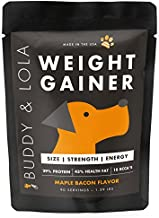 Buddy & Lola Weight Gainer for Dogs (90 Servings) Healthy Weight Gainer Supplement for Dogs. Muscle Builder, Injury Recovery, Energy & Performance Supplement for All Breeds. Made in The USA