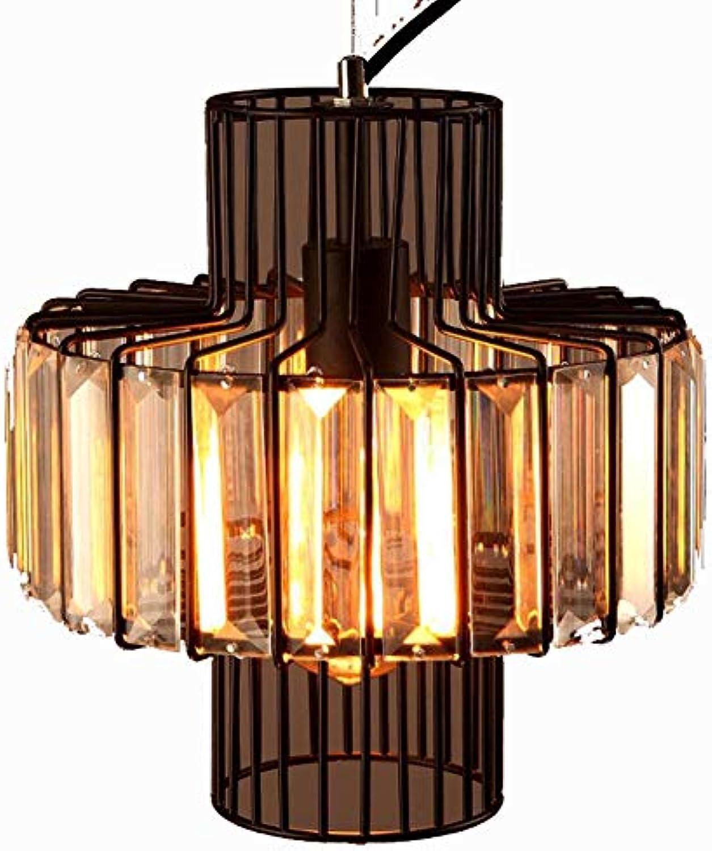 Haoaijia Pendelleuchte Loft Kristall Pendelleuchten Schlafzimmer Lampen E27   E26 Glanz Licht Kristall Restaurant Pendelleuchten