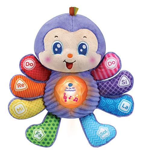 Vtech Baby - Do Re Mi Knuffelspin - Knuffel en maak muziek met deze schattige spin - Educatief Babyspeelgoed - Stevig en duurzaam design - Leeftijd: 6 - 36 Maanden