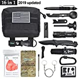 Tianers Gifts for Men Husband Dad Friend, Emergency Survival Kit 16 in 1, Upgrade Compact Survival...