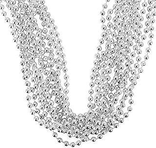 Rhode Island Novelty Metallic Silver Beads One Dozen