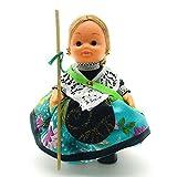 Folk Artesanía Muñeca Regional colección de 15 cm con Vestido típico Castellonera (Castellón)...