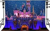 写真撮影のためのHD漫画の子供の楽園の背景星空の漫画の城の背景室内装飾写真ブーススタジオ小道具7x5ftZYMT0482