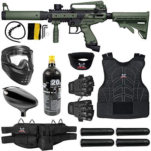 Maddog Tippmann Cronus Tactical Starter Protective CO2 Paintball Gun Package - Black/Olive