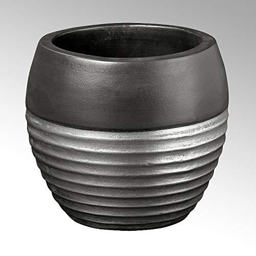 Lambert Sansibar Gefäß, Keramik, Silber, 28, D 32 cm