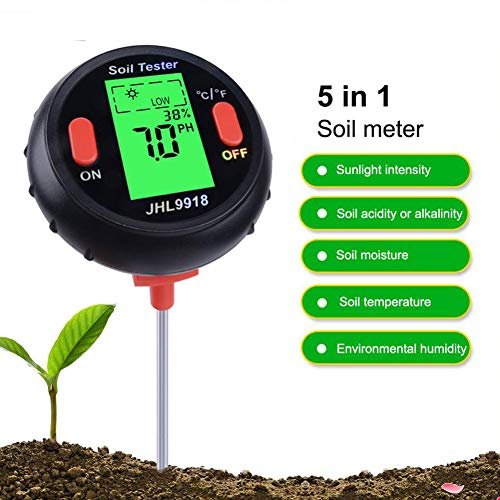 Read About ASDY New Five-in-One Soil Tester, Illuminance Tester, Botanical Garden, Forest Flower, Mo...