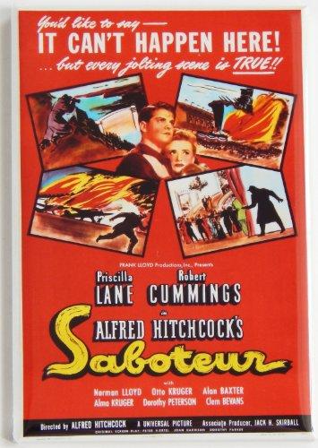 Saboteur Movie Poster Fridge Magnet