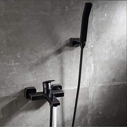 Zixin Wall Mounted Black Oil Rubbed Badewannen-Hahn-Satz mit Handheld-Bad-Dusche-Mischer Sprayer Tap