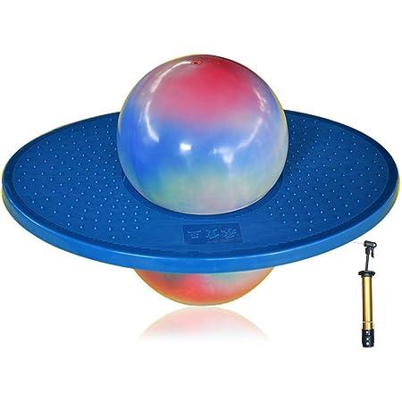 XINQIAN Balance Ball H/üpfball mit Griff f/ür Kinder Puppe H/üpfball Puppenclip Fu/ßpedal H/üpfball