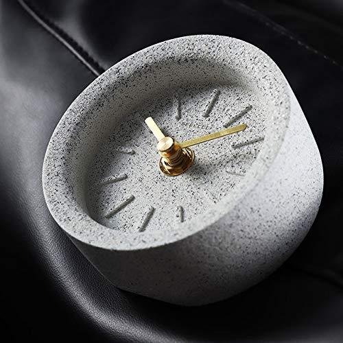 JIAXIN Reloj Pared Reloj Reloj De Mesa Creatuve Reloj De Terrazo De...