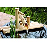 zenggp Garten Bambus Wasserspiel Wasserspiel Auslauf mit Pumpe Gartendekoration Wasserfall Outdoor...