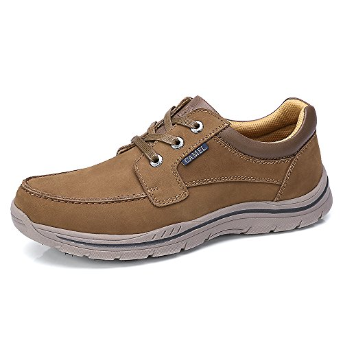 Camel Mens Casual Leather Fashion Sneakers Business Wide Lightweight Lace-up Oxford Shoes...