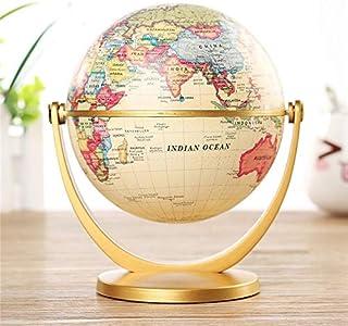 WHHHuan 1pc 12cm rétro Globe 360 rotatant Earth World Map Carte Balle 12cm rétro Globe 360 Rotation terrestre World mé...