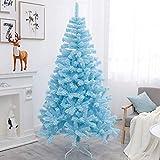 Barm Árbol de Navidad Artificial Azul con Soporte de Metal PVC Premium Fácil Montaje Árbol de Navidad Plegable Árbol de Pino de Navidad Reutilizable-h 400cm / 13ft