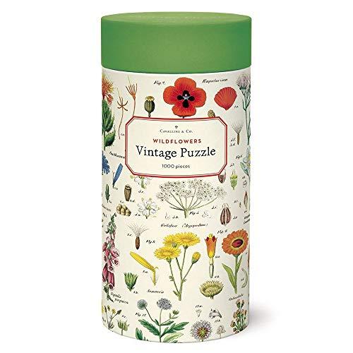 Cavallini Papers & Co. Wildblumen Puzzle, Mehrfarbig, 1000 Teile