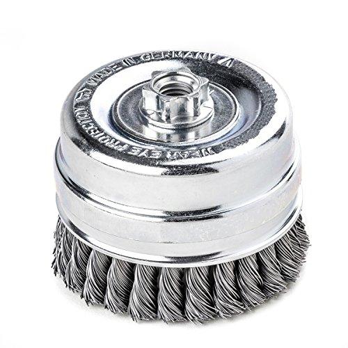 topfbrsten tressé avec anneau soutenant 80 mm colliers 20 Z STH fil 0,35 mm Poids 14 m