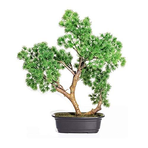 Zyj stores Artificial Willkommen Kiefer Bonsai-Bäume Gefälschte Topfpflanzen Indoor Evergreen Heim Tabelle Feng Shui Home Hotel Gartendeko