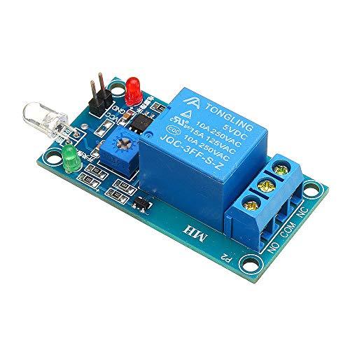 SHANG-JUN Fácil de Montar Fotodiodo Sensor de relé de 5V PHOTOSWITCH módulo fotoeléctrico Light Detection Conveniente