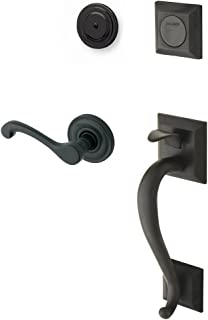 Baldwin 85320.102.RFD Madison Sectional Trim Right Hand Dummy Handleset with Classic Lever, Oil Rubbed Bronze