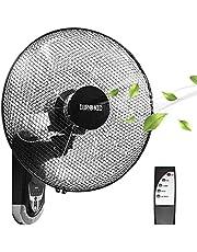 Duronic FN55 Muurventilator | Oscillerende Wandventilator | Draaiende Ventilator | Afstandsbediening | Timer | Ø 40 cm | 60W Motor | Kantelbaar | Ideaal voor Thuis Kantoor Restaurant Keuken of Garage