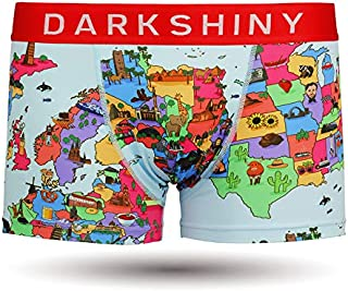[DARK SHINY(ダークシャイニー)] ボクサーパンツ メンズ CARTOON MAP