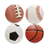 Buttonsmith Sports Balls Magnet Set - Set of 4 1.25' Magnets - Made in the USA