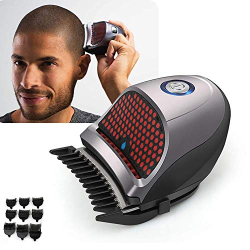 Hair ClippersBald Head Clipper Shortcut Self-Haircut Kit Hair Clippers Cordless Rechargeable Hair Cutter Shaving Machine with 9 Combs