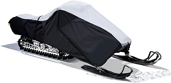 SnowShield All Weather Snowmobile Cover Black Color fits up to 140