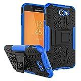 RioGree Phone Case for Samsung Galaxy J3 Luna Pro/Galaxy J3 Prime/Galaxy J3 Emerge /J3 Eclipse/J3 2017/ Amp Prime 2/Express Prime 2/Sol 2/J3 Mission, with Kickstand Cover Skin, Blue