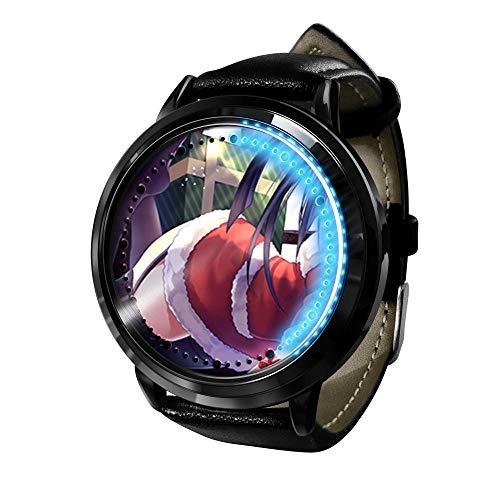 Anime japonés Citas Guerra Moda Casual Anime Reloj Cosplay Regalo Reloj de Regalo para niños-B