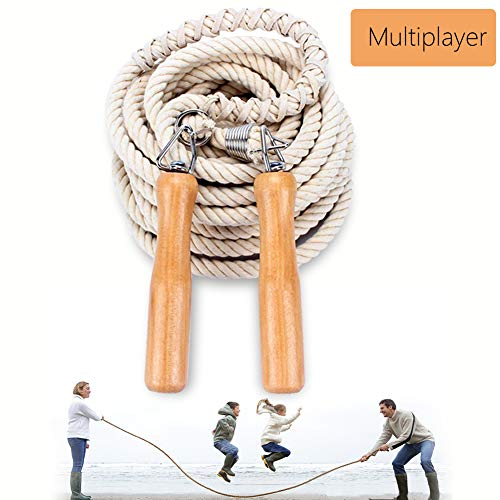 Leadfan Double Dutch Jump Ropes Long Jump Rope for Game/Skipping Rope Multiplayer Group -16ft-22.9ft-32ft-49ft-for School, Company, Fun Games,Agility Play-7 Meters
