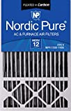 Nordic Pure 16x25x5 MERV 12 Plus Carbon Honeywell AC Furnace Air Filters 2 Pack