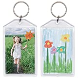1.75' x 2.75' Acrylic Photo Snap-in Keychain - 25 Pack