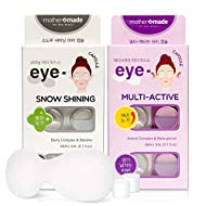 mothermade Anti-Wrinkle & Dark Circle Removing Eye Mask - Snow Shining & Multi-Active Eye Capsule SET (6 patches x 2 pack, 12 use), Greatly Hydrate and Firm Your Eye Areas, and Remove the DarkCircles