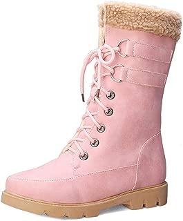 RAZAMAZA Women Fashion Mid Cald Warm Faux Fur Riding Boots