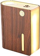 Kysm bureaulamp Boek lamp luchtbevochtiger hout USB draadloze kleine nachtlamp boek lamp (rode walnoot, batterijversie)