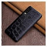 carcasa de telefono Caja del teléfono de cuero Fit For Huawei P20 P30 Lite P40 Pro NOVA 5T FACT Fit For HONOR 9X 10 20 30 PRO TEXTURE COBERTURA Caja del teléfono ( Color : Black , Size : Mate 20 Pro )