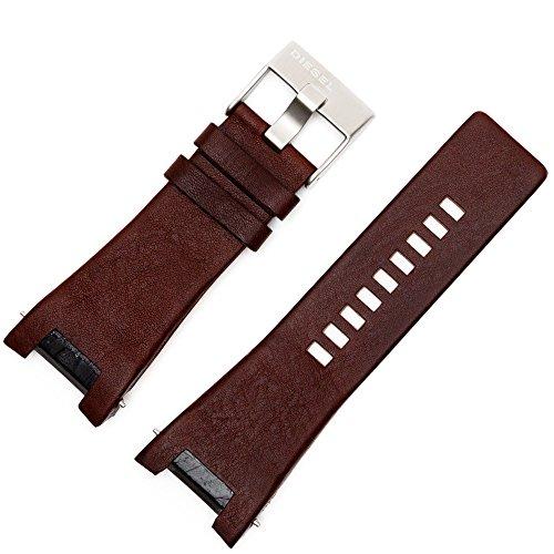 Diesel Reloj de pulsera DZ de 1123, 18mm, piel, marrón, mujer–Incluye Accesorios–Pulsera, cierre de repuesto Plata–133070
