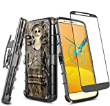 E-Began Case for Moto E5 (XT1920DL), Moto G6 Play /Moto G6 Forge with Tempered...