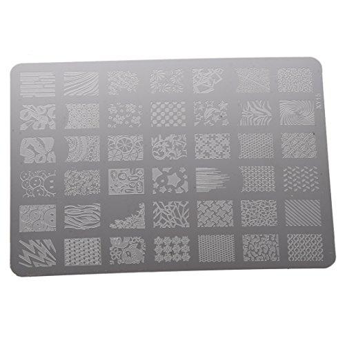 TOOGOO Modele d'Estampage d'art Modele d'imprimante Outil de Manucure Decoration d'art des ongles Modele d'Estampage a ongles pour les femmes XY15