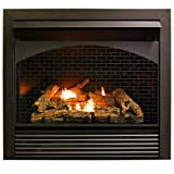 ProCom 32' Zero Fireplace Insert with Remote Control-Model FBNSD32RT, Black