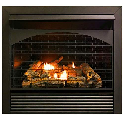 "ProCom 32"" Zero Fireplace Insert with Remote Control-Model FBNSD32RT, Black"