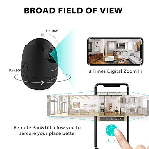 Netvue Baby Monitor Security Camera, Indoor WIFI Camera, 1080P Pet Camera Two Way Audio Night Vision Human Detection…